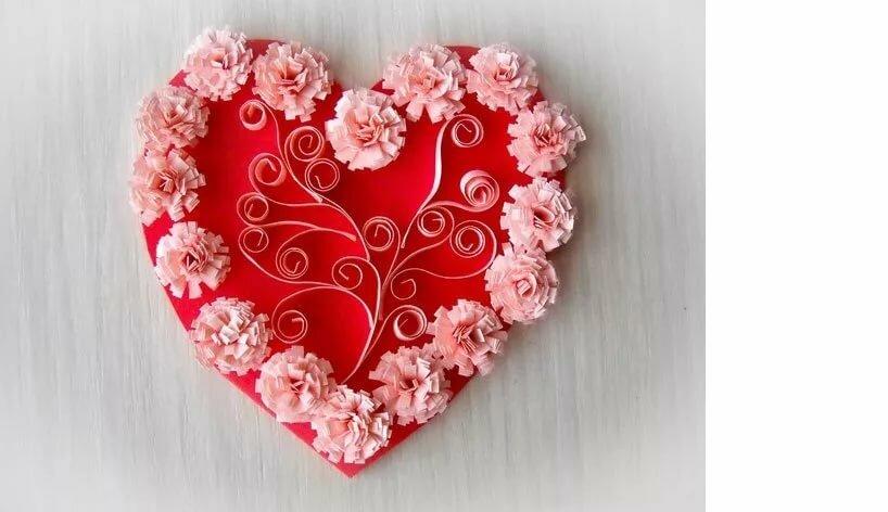 оформление открыток в виде сердца порода