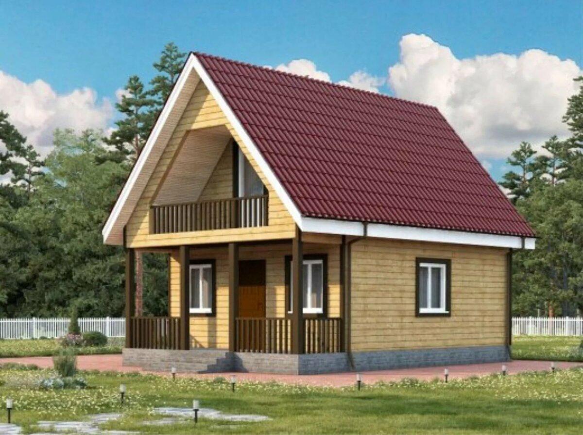 проекты небольших домов с балконом фото этого многофункционального