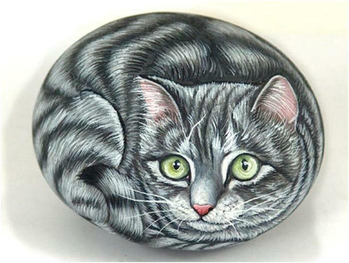 Коты на камнях рисунки