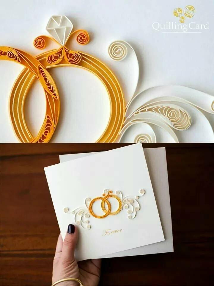 Свадебные открытки своими руками только в технике квиллинг