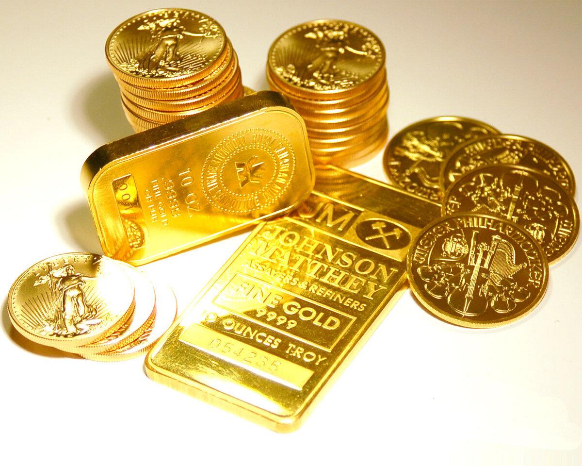 Картинка с золотом и деньгами
