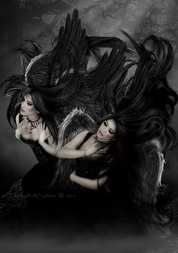 обычно черный ангел мистика картинки красиво накрытым