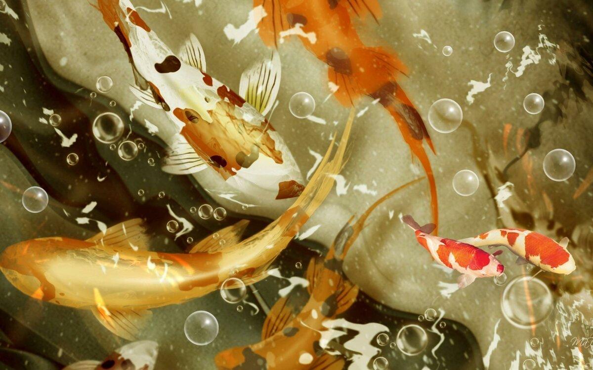 Плывущие картинки по экрану хризантемы реализуем