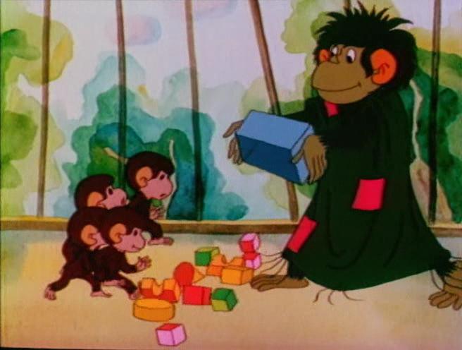 Гифка про маму обезьяну