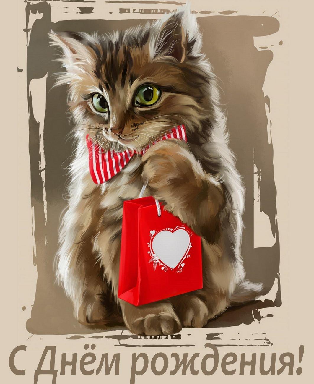 Кошек цветов, открытки кошкам на день рождения