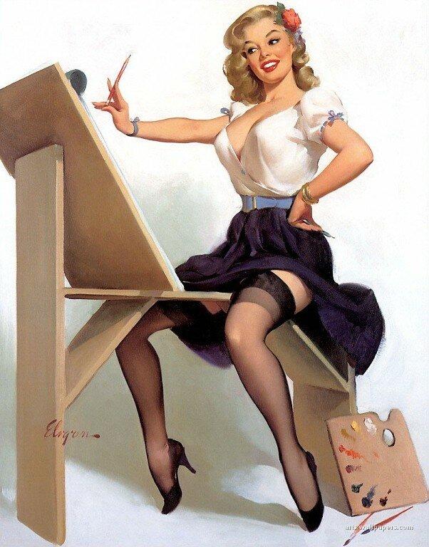 Яблочному спасу, картинки американских девушек 50-х годов