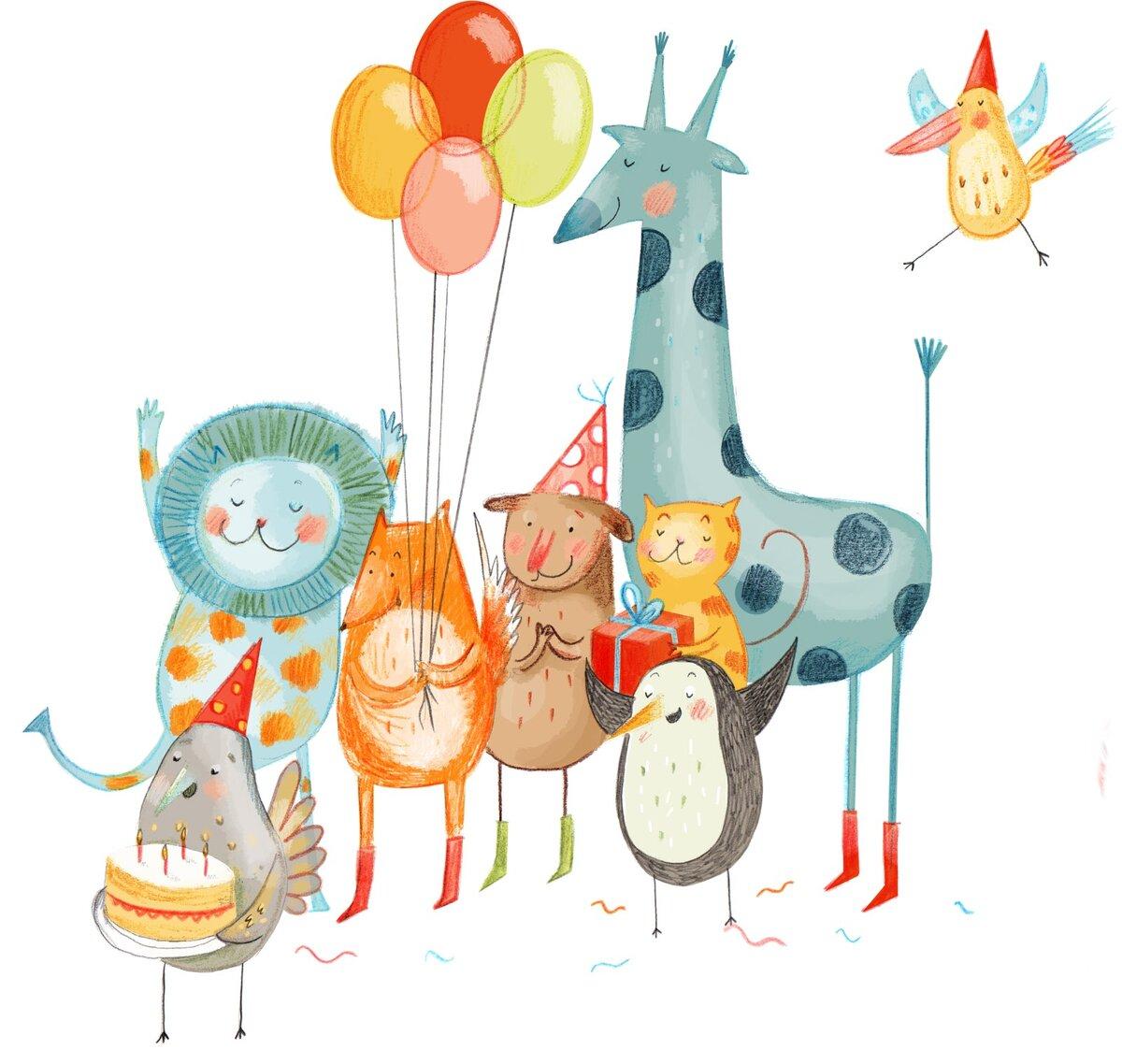 Картинках прикол, картинки с днем рождения со зверюшками