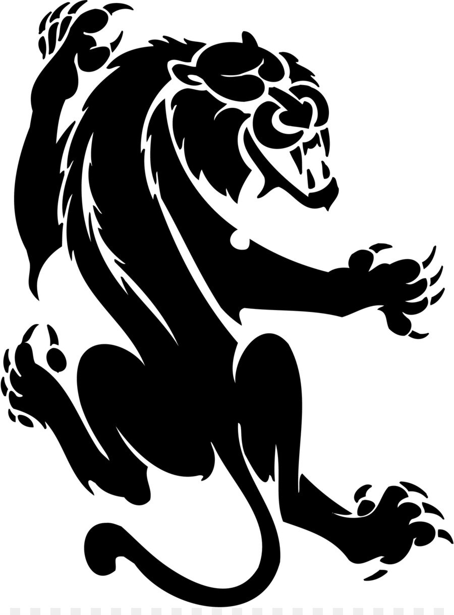 Пантера черно белая картинка