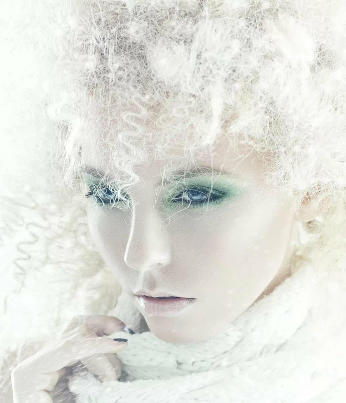 Зимняя картинка леди