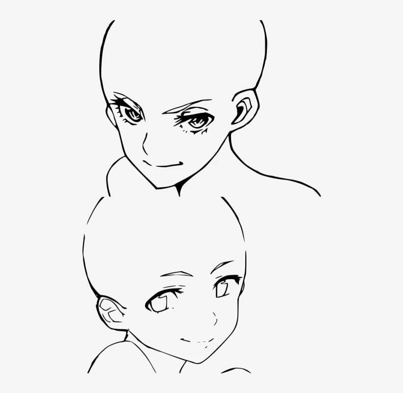 Аниме девушки в профиль для рисования