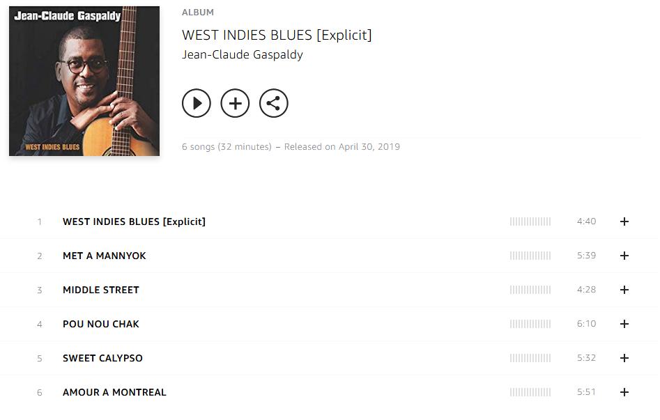 Jean-Claude Gaspaldy - WEST INDIES BLUES.rar S1200