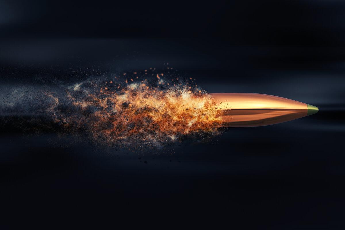 английском картинка пули летящей в цель также может выпустить