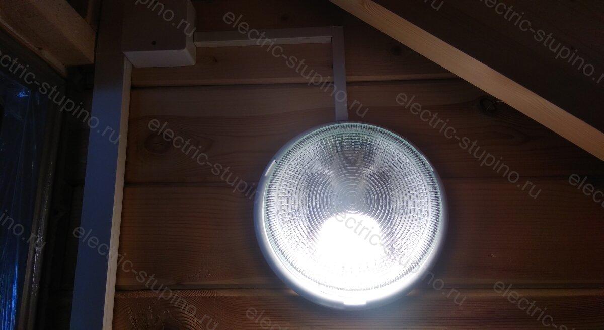Подключение светильника в деревянном частном доме на даче своими руками