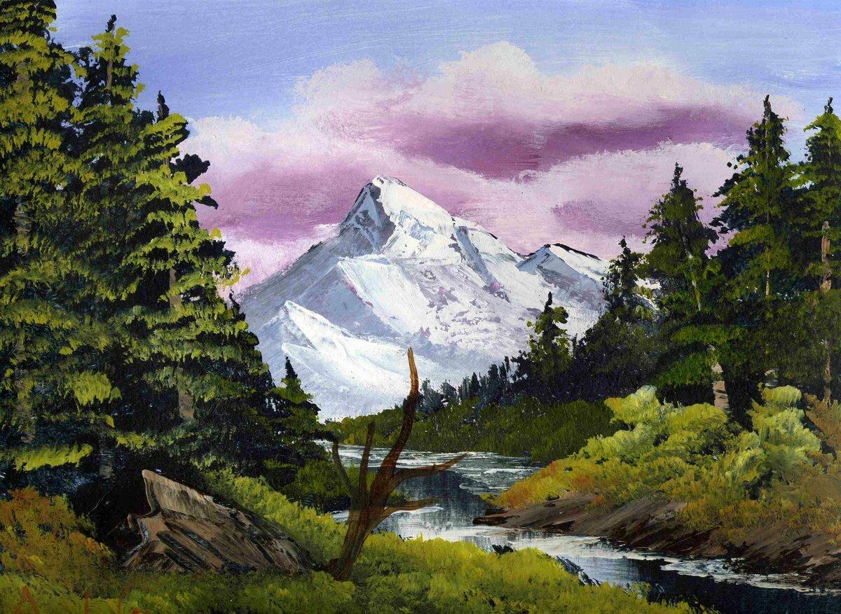 Картинки живопись горы
