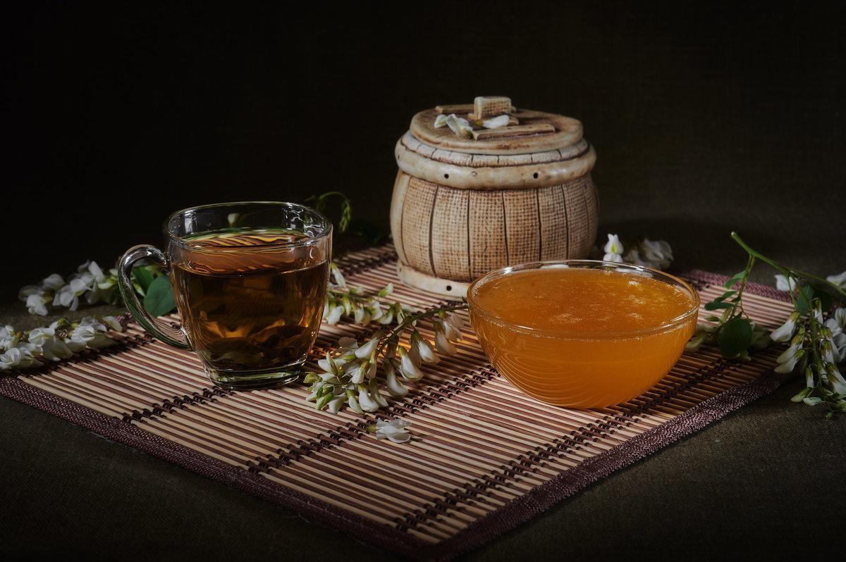 Гифка чай с медом
