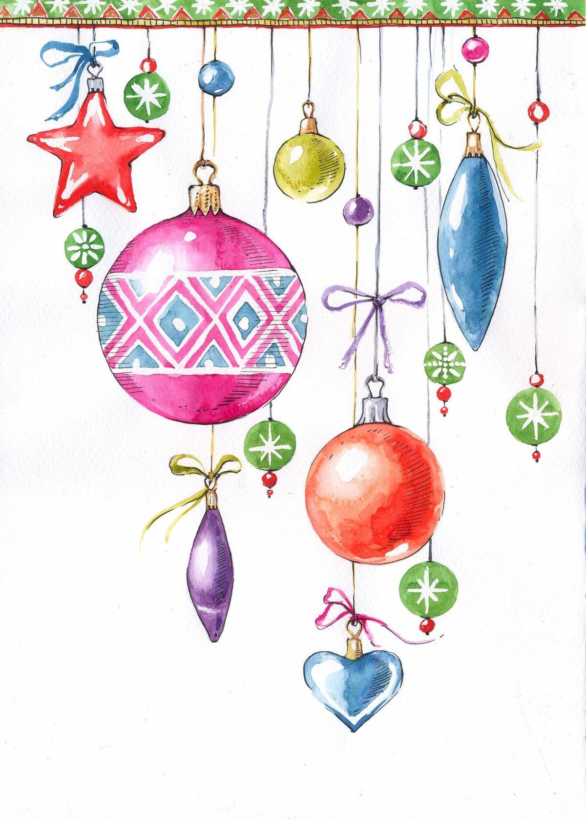 смесь рисунки из новогодних игрушек год счастливого