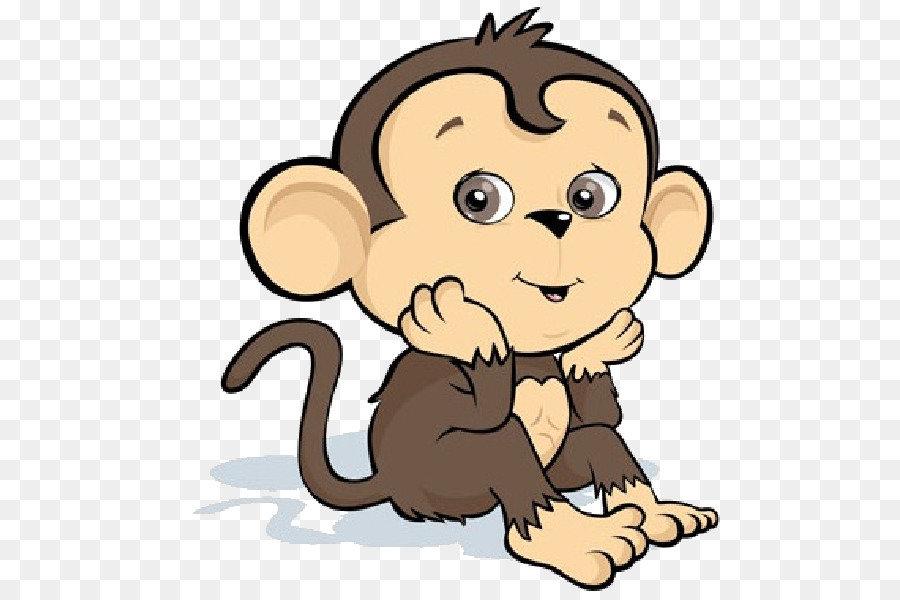 рисунок с обезьяной прошлом