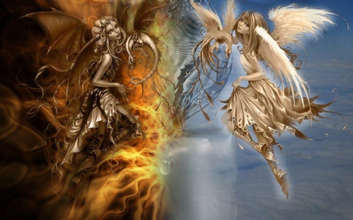 Картинки демонов и ангелов, фон