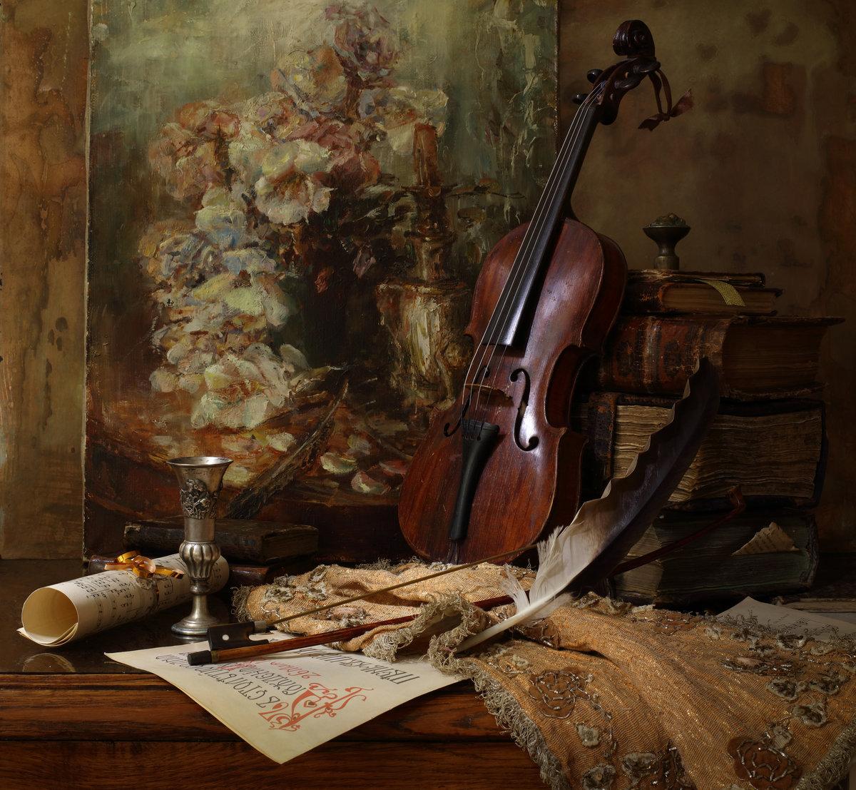 Скрипка в фотонатюрмортах
