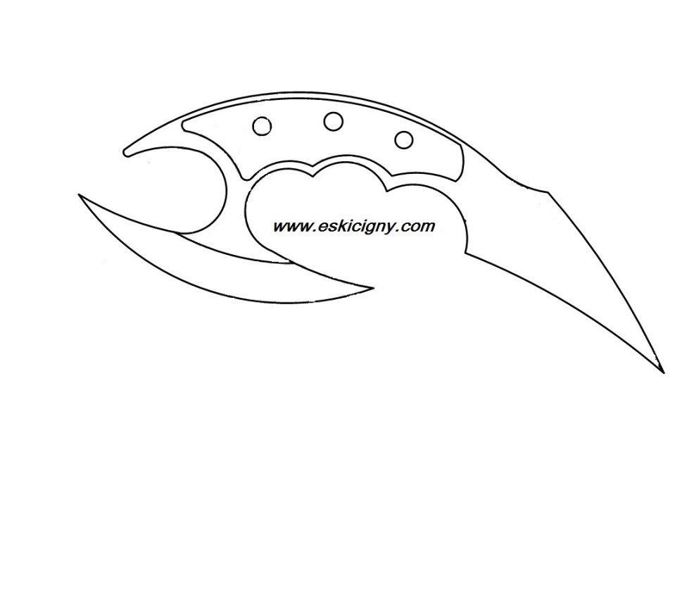 Картинки чертеж керамбита