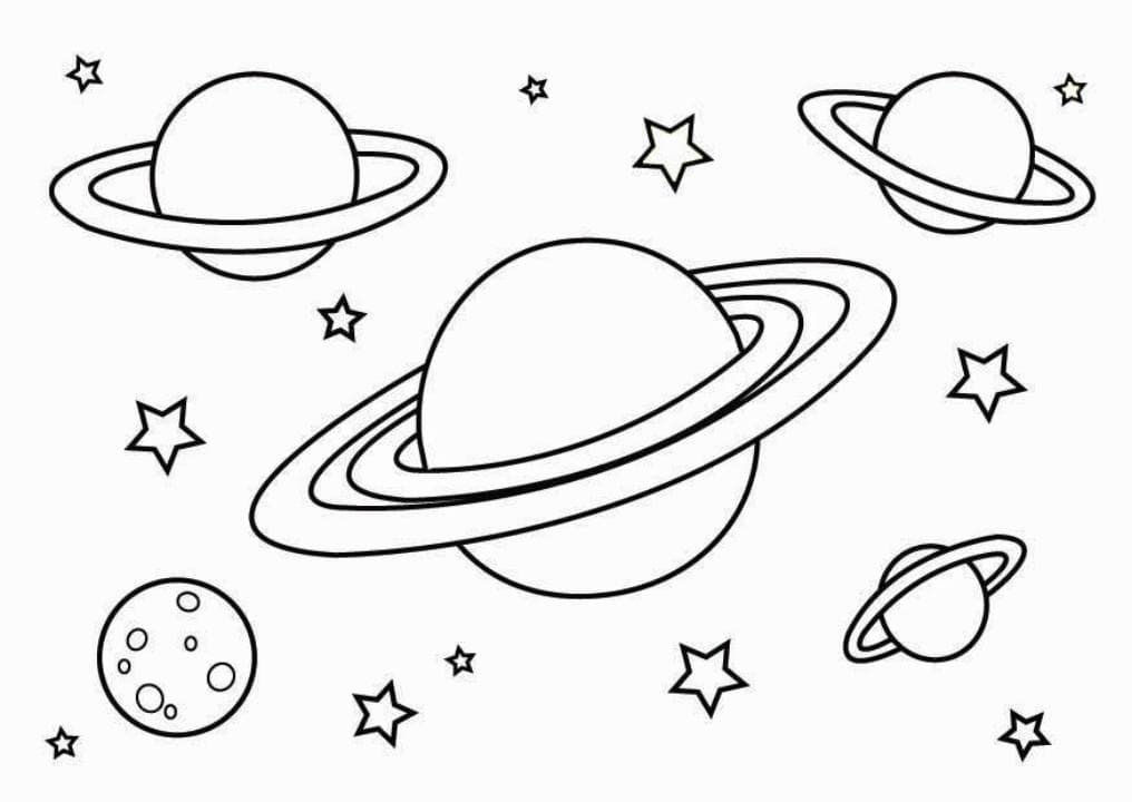 solar system coloring pages - 1016×720