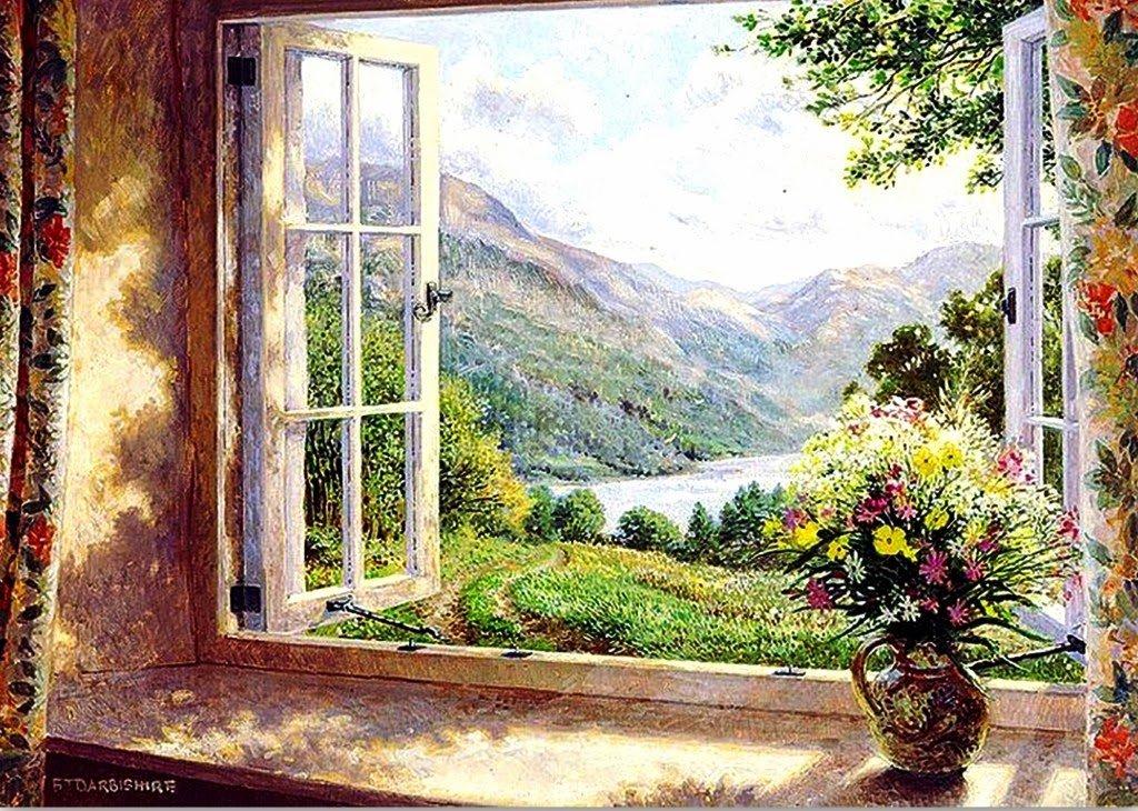 Открытка мир за окном