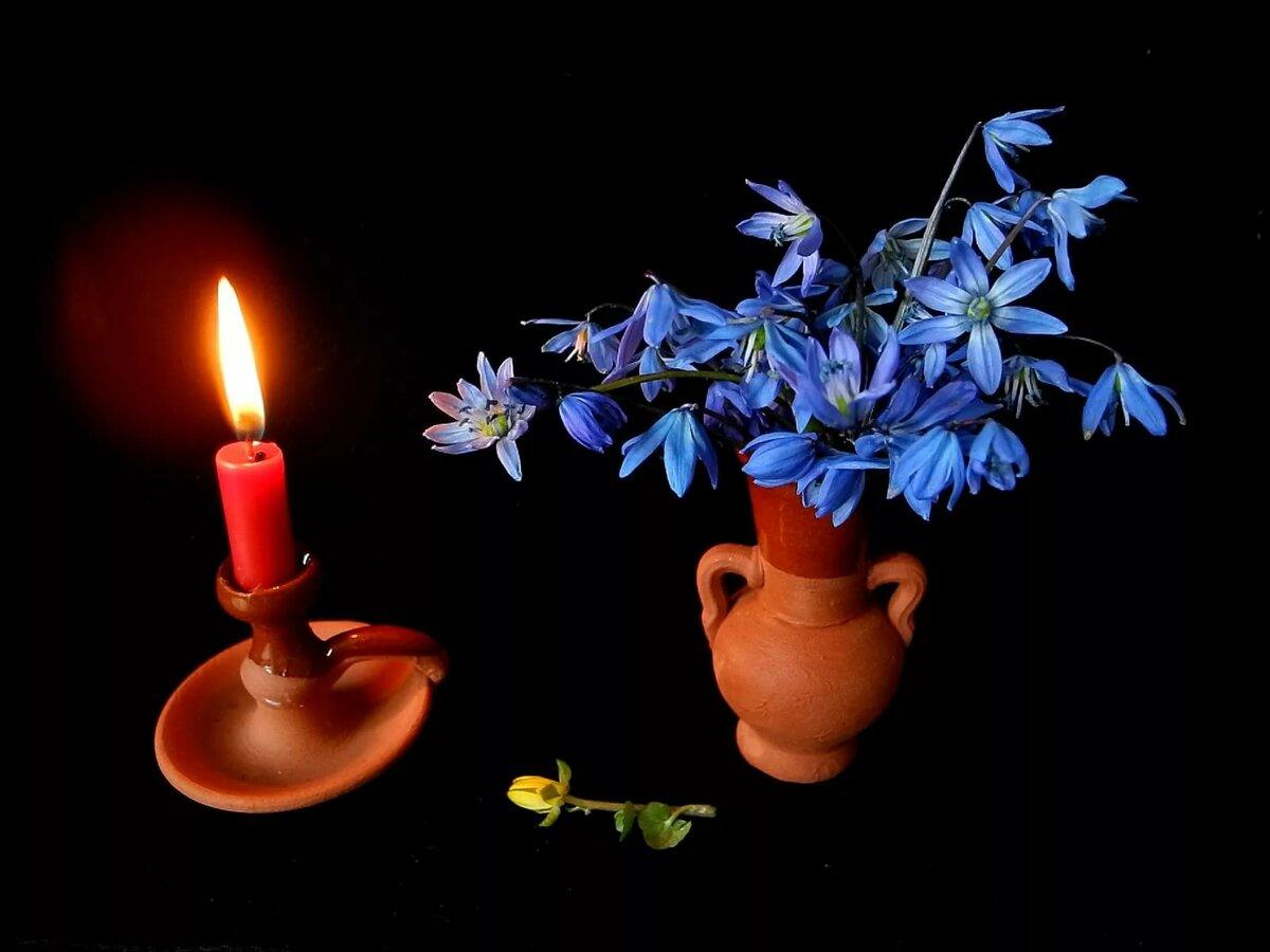 картинка свеча в вазе оранжерею, состоящую