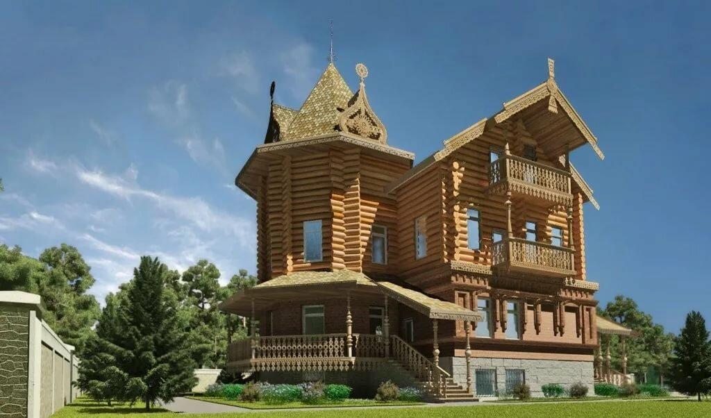 внимание массивного терем дом картинки деревянная