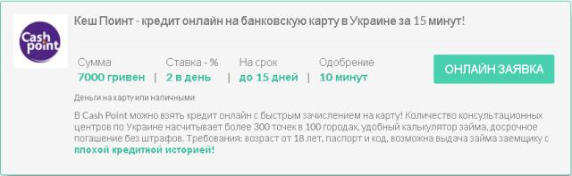 Взять кредит на банковскую карту в украине в каком банке взять кредит украина