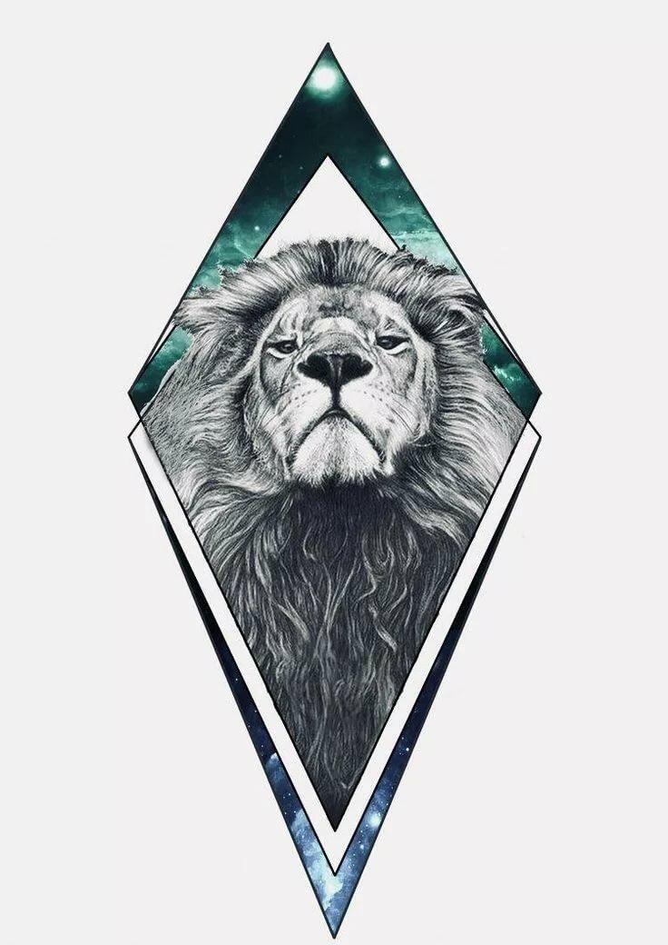 лев в треугольнике картинки часто