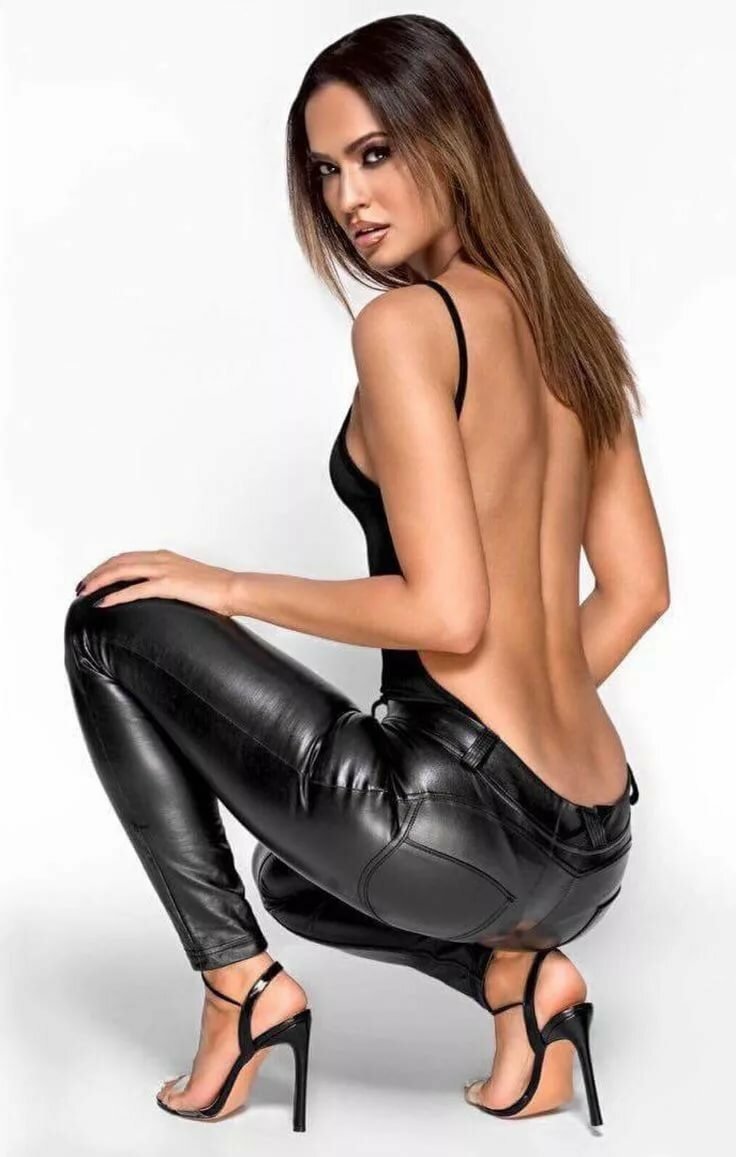 Sexy leather girl