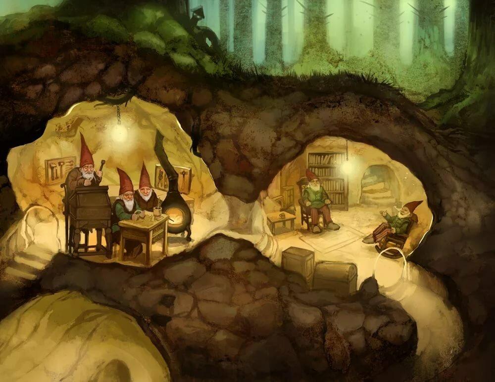 Гномы под землей картинки