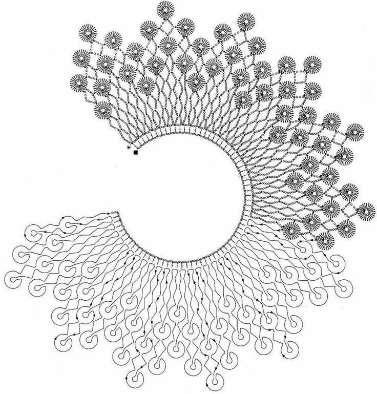 Воротнички крючком со схемами картинки