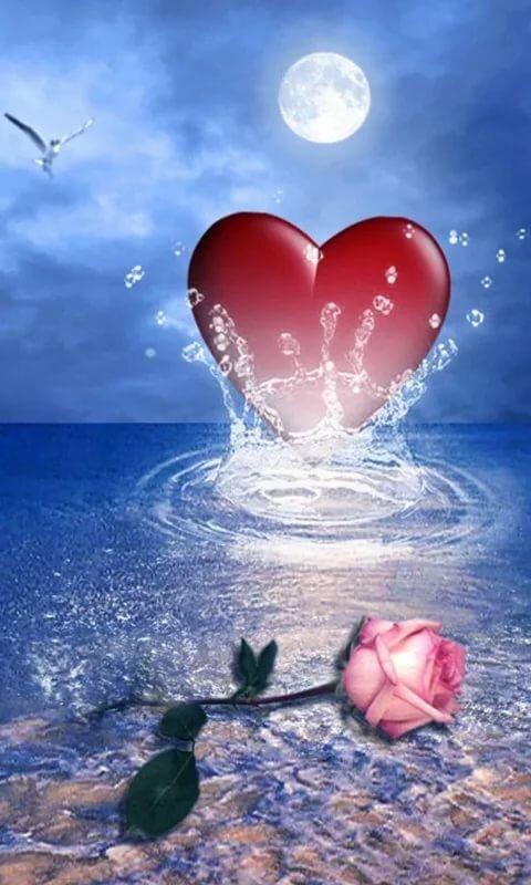 Картинки на телефон анимация сердце