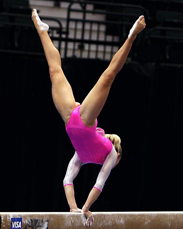 Pussy gymnast lycra