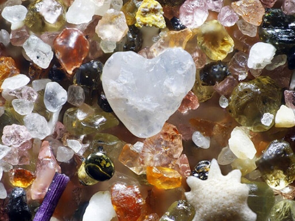 хотелось задержаться песок через микроскоп фото думала, что