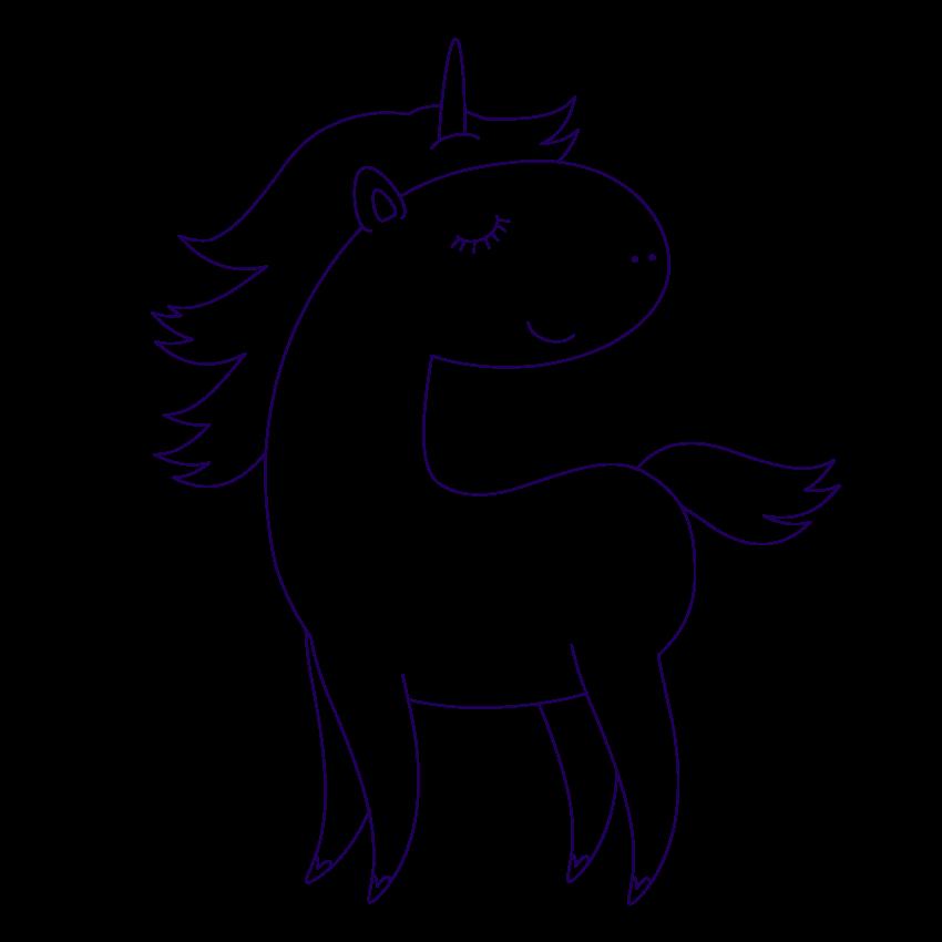 Картинка для рисования единорог