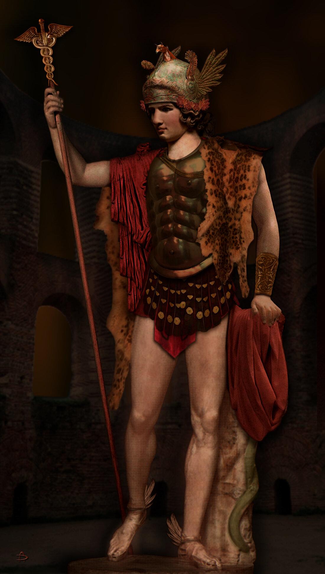 экспозиции стоп картинка древнегреческого бога гермеса ним первую