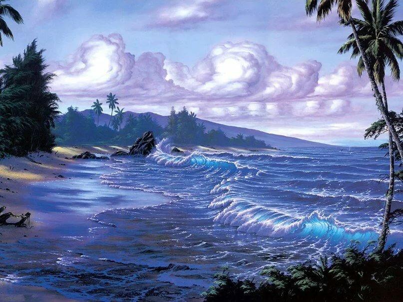 Картинки анимация лето и море