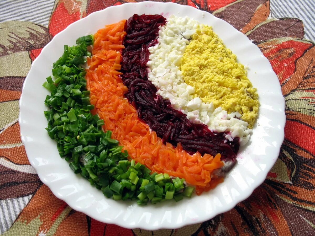 салат дорожка рецепт с фото пошагово