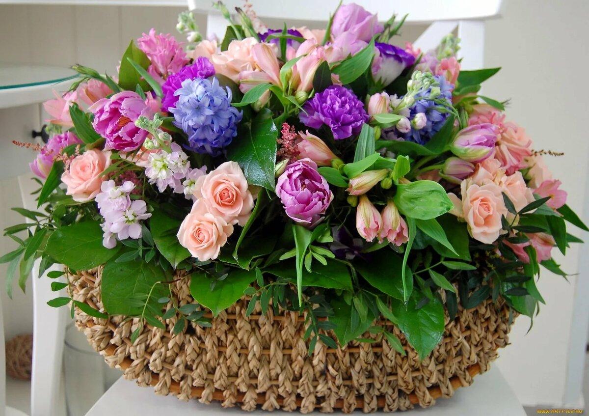 Дениса днем, открытки цветы в корзинах