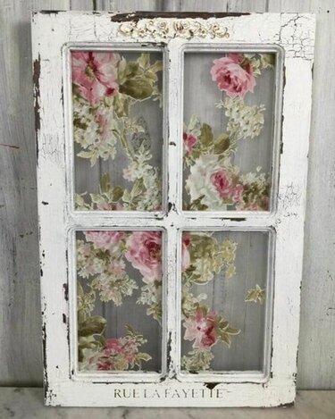 окно рисунок в стиле шебби шик