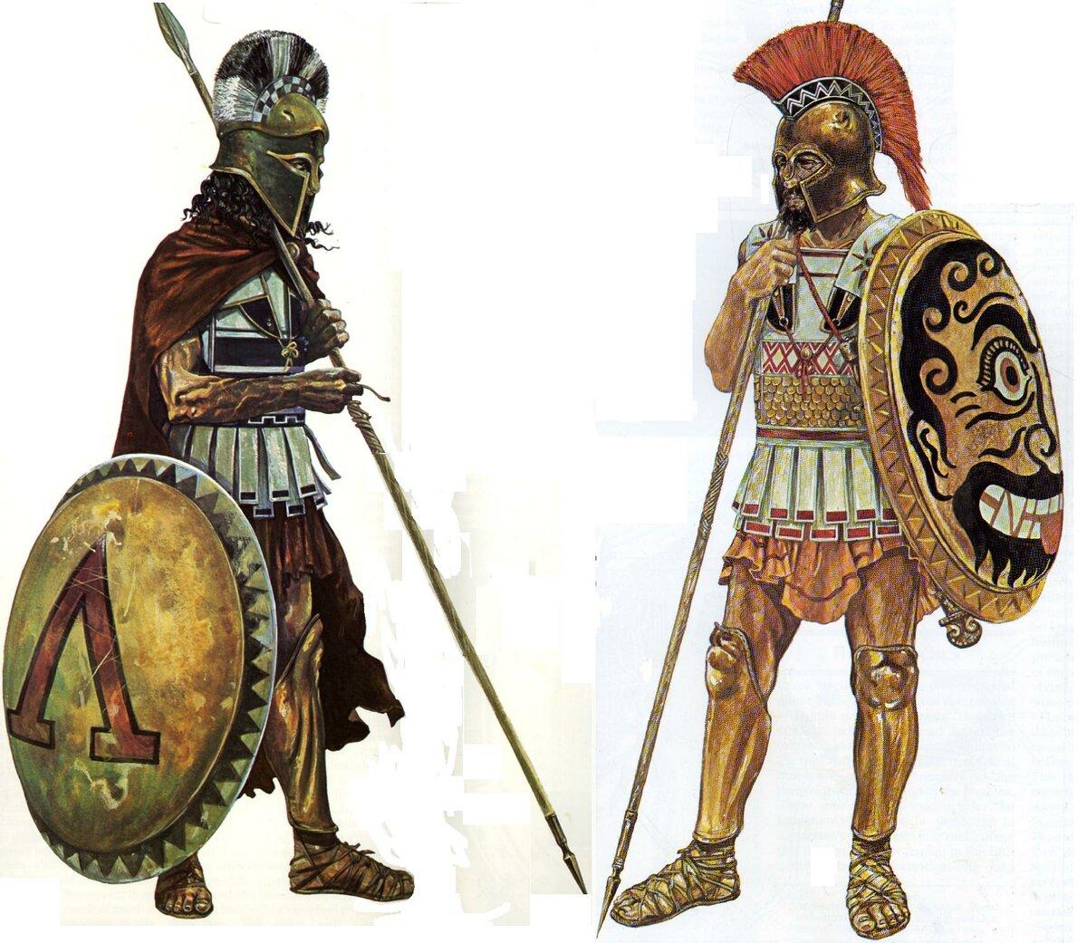 картинка античного воина