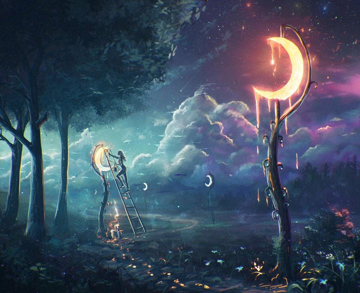 Открытки, картинки ночка волшебная
