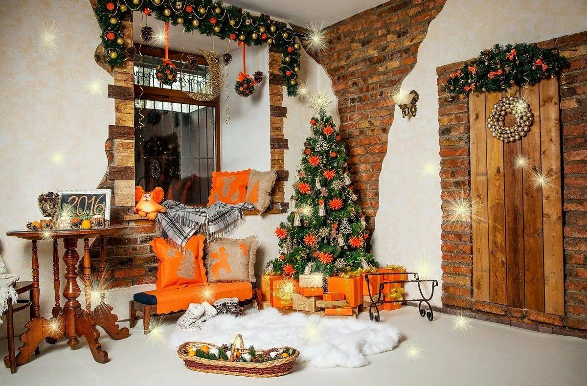 оформление лесного домика новогоднее фото людей