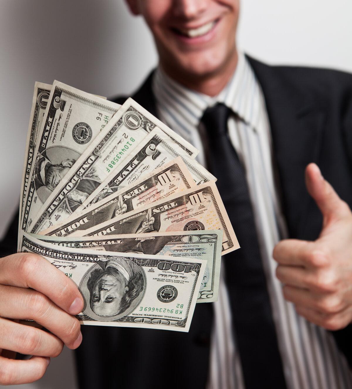 парень с деньгами картинки