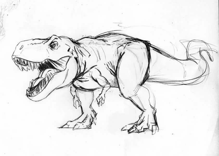 Рисунки динозавров для срисовки