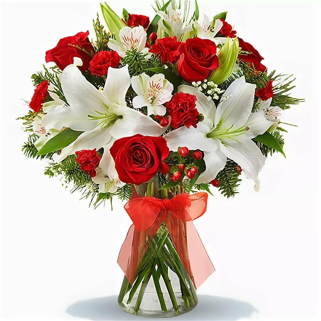 лилии с розами букет фото стало
