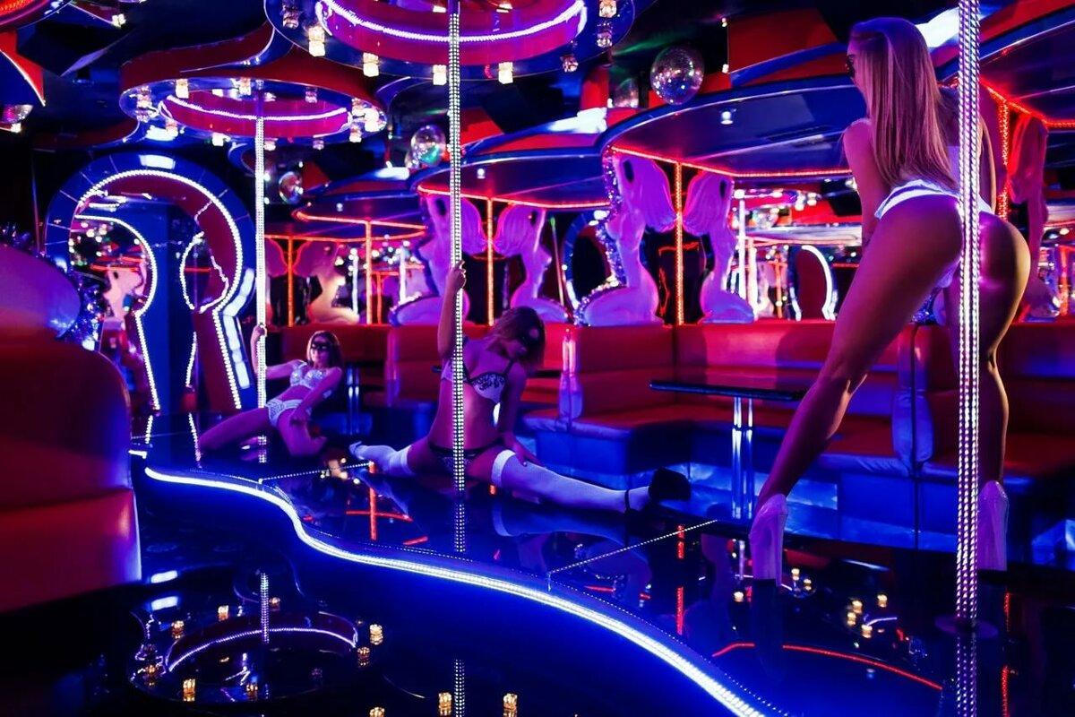 Striptease in club