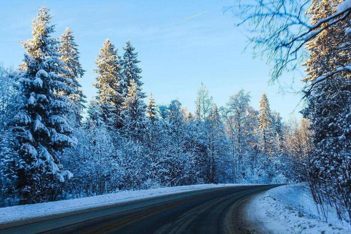 стиле фото на рабочий стол зима дорога ждет увлекательная встреча